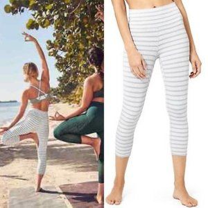 Athleta High Rise Stripe Heathered Chaturanga Crop